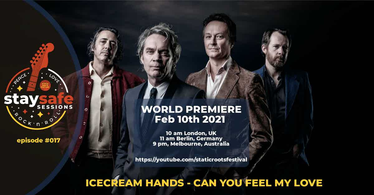 stay safe sessions - yt - episode #017 - Icecream Hands - Can You Feel My Love - featured image