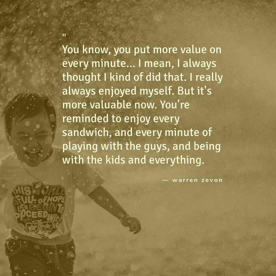 srf - enjoy every sandwich - warren zevon